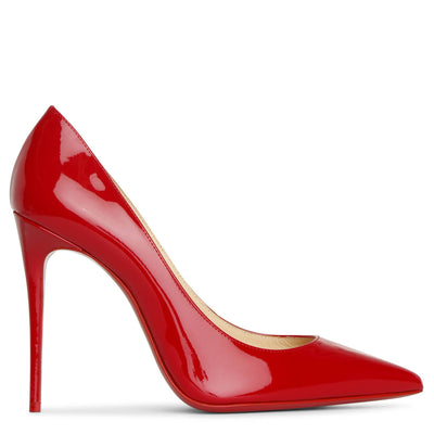 Kate 100 patent red pumps