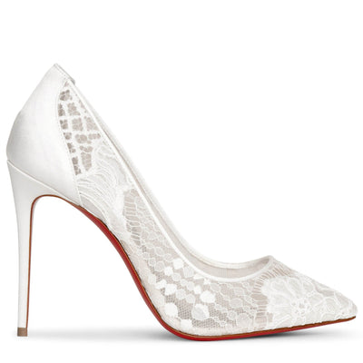 Follies Lace 100 white pumps
