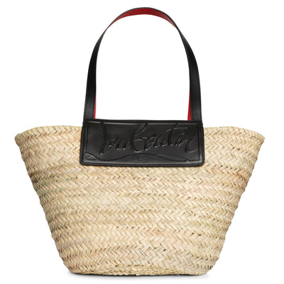 Loubi Shore black leather beach tote