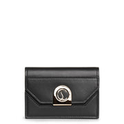 Elisa chain cardholder black and gold