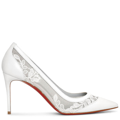Galativi 85 white lace pumps