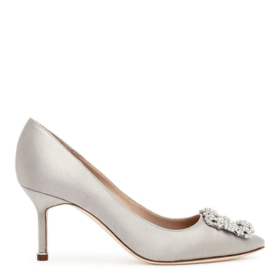 Hangisi 70 silver grey satin pump