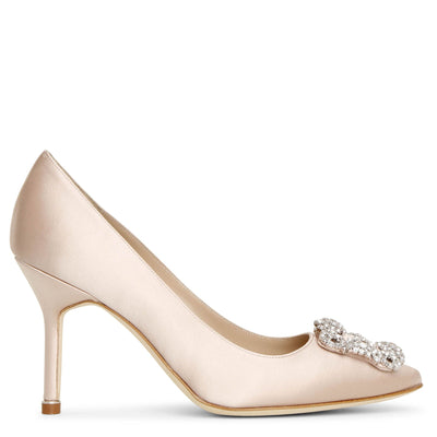 Hangisi 90 nude satin pumps