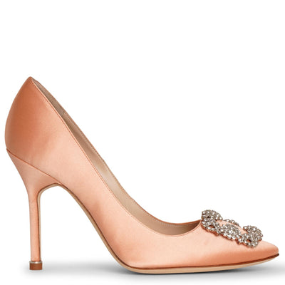 Hangisi 105 coral satin pumps