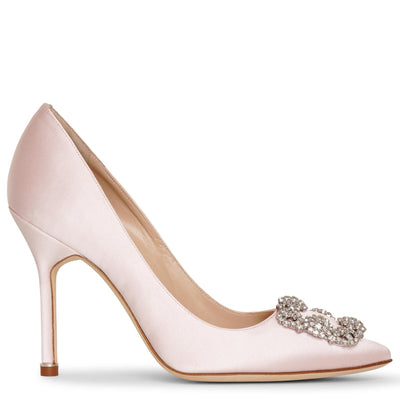 Hangisi 105 light pink satin pumps