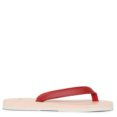 Lipstick red nappa sandals