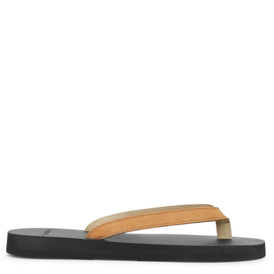 Nubuck tan leather sandals