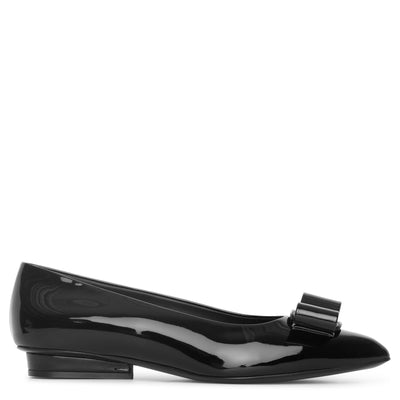 Viva patent black leather flats