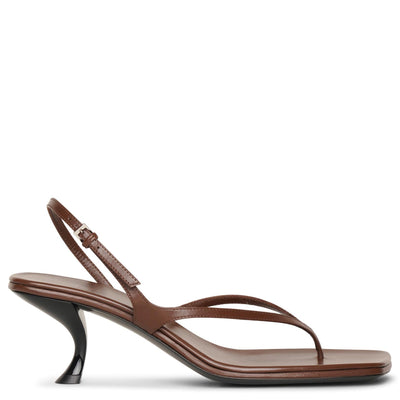 Constance walnut leather sandals