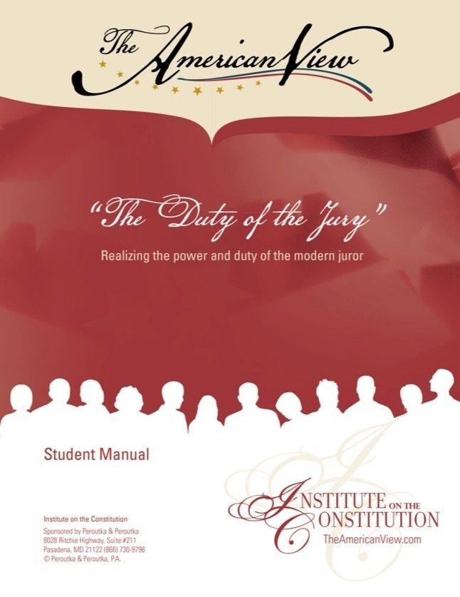 Duty of the Jury Student Manual Digital Download