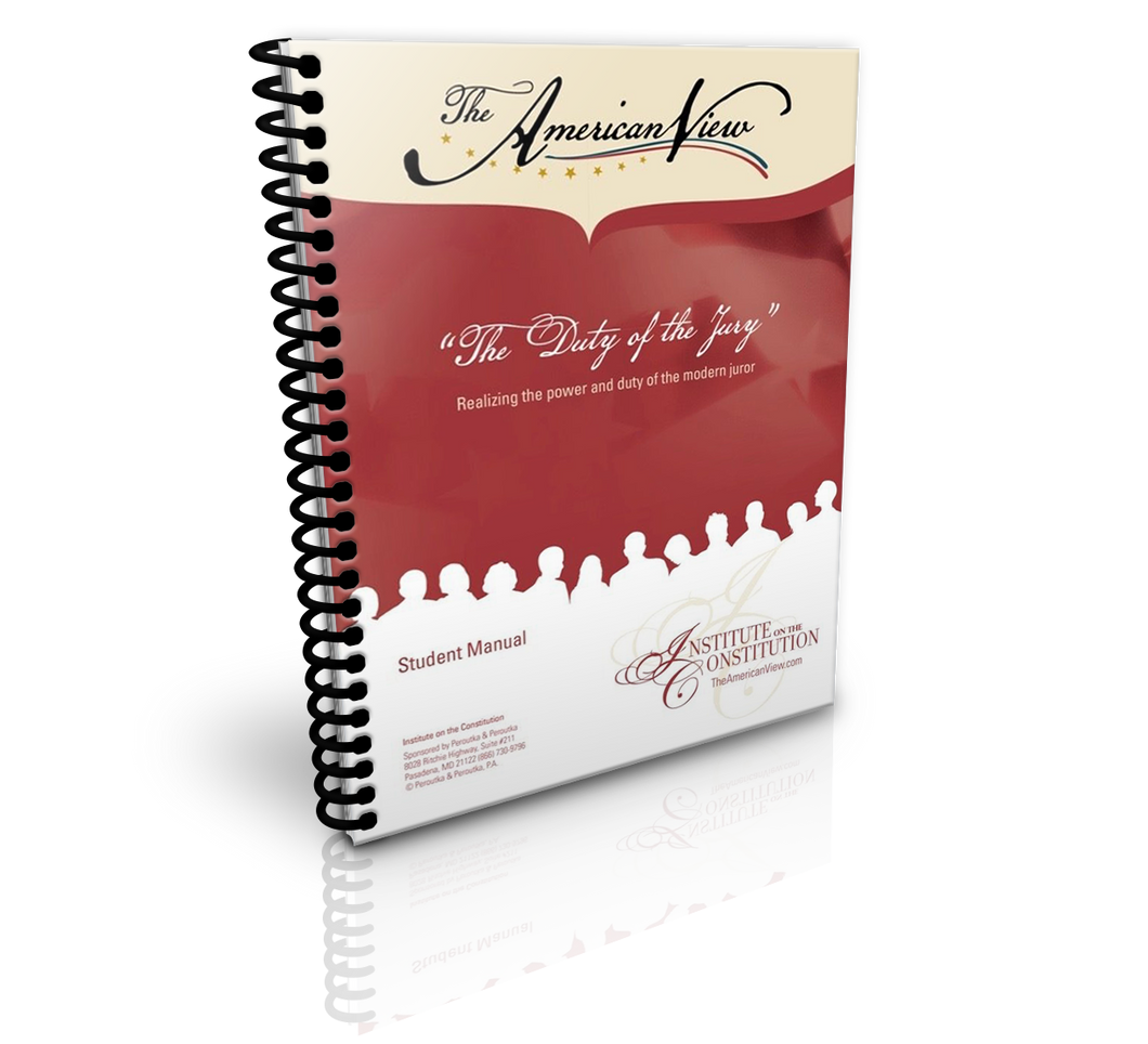 Duty of the Jury Student Manual