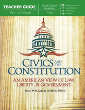 Load image into Gallery viewer, Civics and the Constitution (Teacher's Guide)