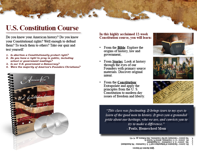 U.S. Constitution Course Promotional Flyer