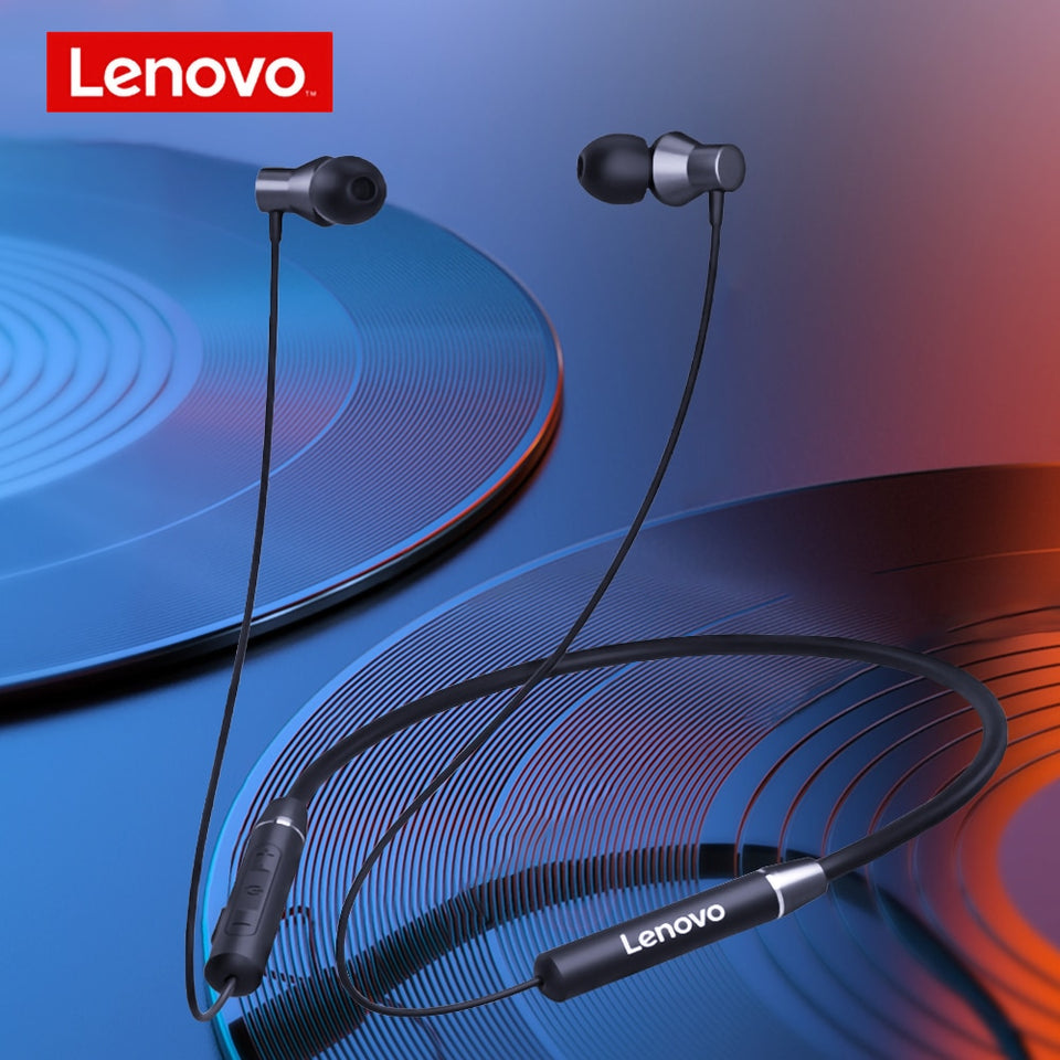 Lenovo HE05 Sports Sweatproof Headphones with Mic - FeelLikeShopping.com