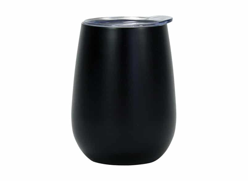 Insulated Wine Tumbler: Matte Black