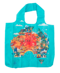 Reusable Tote Bag_Australia Map