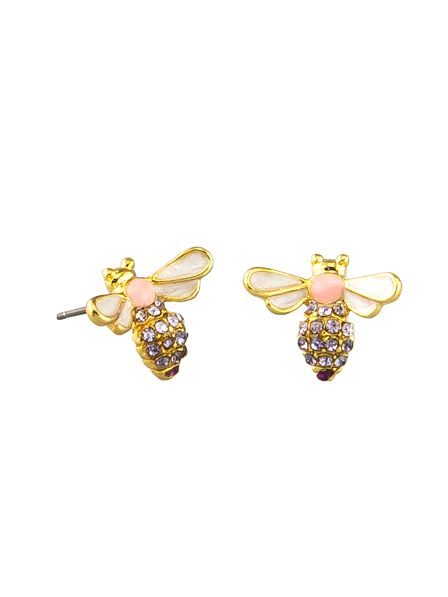 Tigertree PInk Bee Earrings