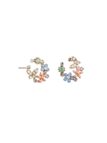 Day Crystal Garden Earrings