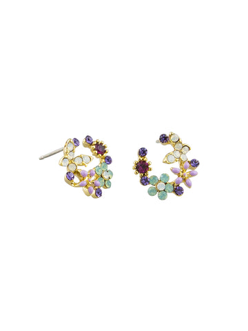 Night Crystal Garden Earrings