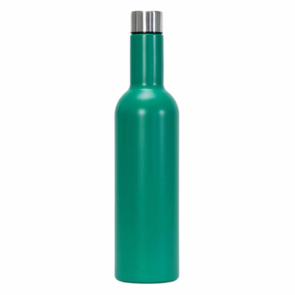 Insulated Wine Bottle: Emerald