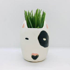 White Rufus Dog Pot