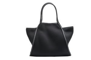 Punch Neoprene Mesh Tote Bag: Black