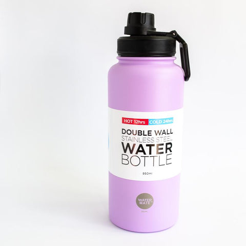 Watermate Drink Bottle – Purple Stainless Steel