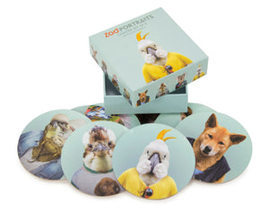 Zoo Portraits Coaster Set of 8