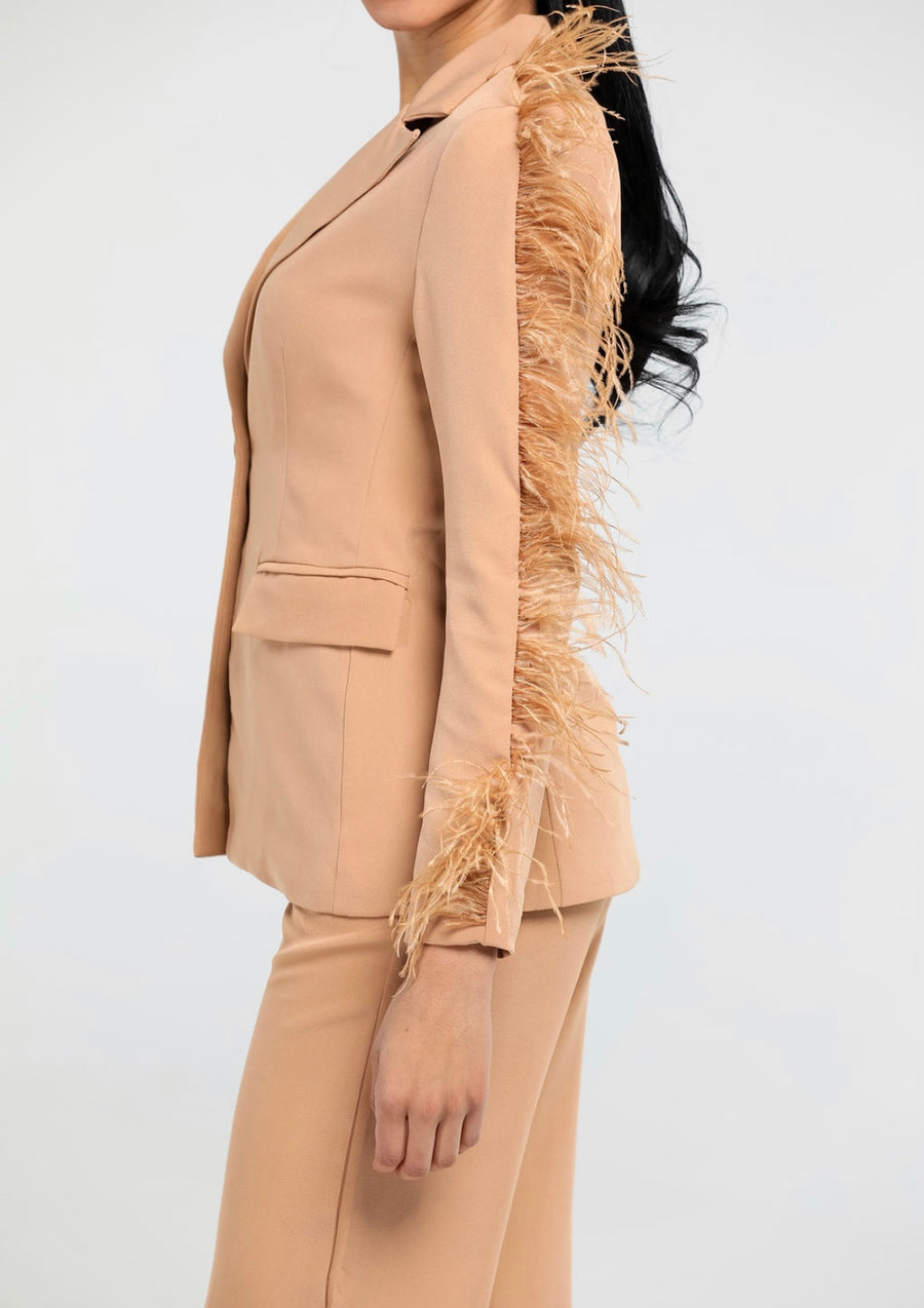 Feathered Down Suit| 2 piece Suit