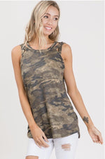 Load image into Gallery viewer, CAMO PRINT TANK TOP-Tanks-7th Ray-Litchfield Lane Boutique