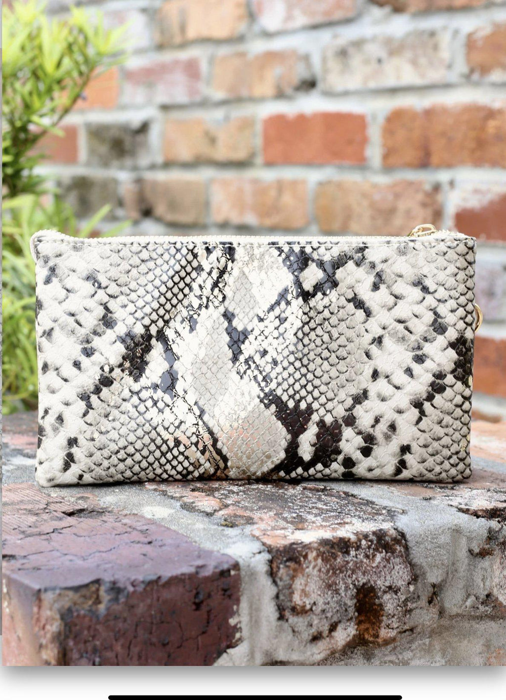 Caroline Hill Liz Custom Collection Crossbody Bag Snake Gold Fleck-Handbags-Caroline Hill-Litchfield Lane Boutique
