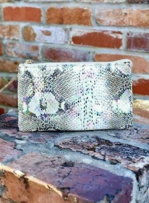 Caroline Hill Liz Custom Collection Crossbody Bag Snake Multi Hologram-Handbags-Caroline Hill-Litchfield Lane Boutique