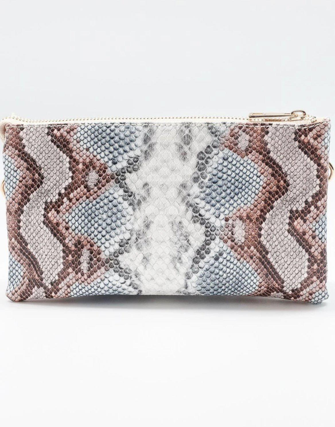 Caroline Hill Liz Custom Collection Crossbody Bag Snake Sunset-Handbags-Caroline Hill-Litchfield Lane Boutique