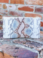 Load image into Gallery viewer, Caroline Hill Liz Custom Collection Crossbody Bag Snake Sunset-Handbags-Caroline Hill-Litchfield Lane Boutique