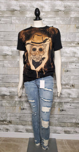 Cowgirl Skull T-shirt-T-shirt-Canvas-Litchfield Lane Boutique