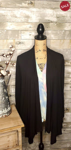 DRAPED CARDIGAN IN BLACK-cardigan-Moa-Litchfield Lane Boutique
