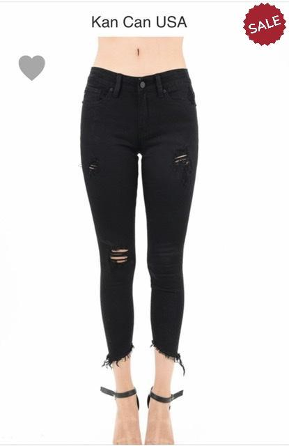 LISA MID RISE ANKLE SKINNY-Jeans-KanCan-Litchfield Lane Boutique