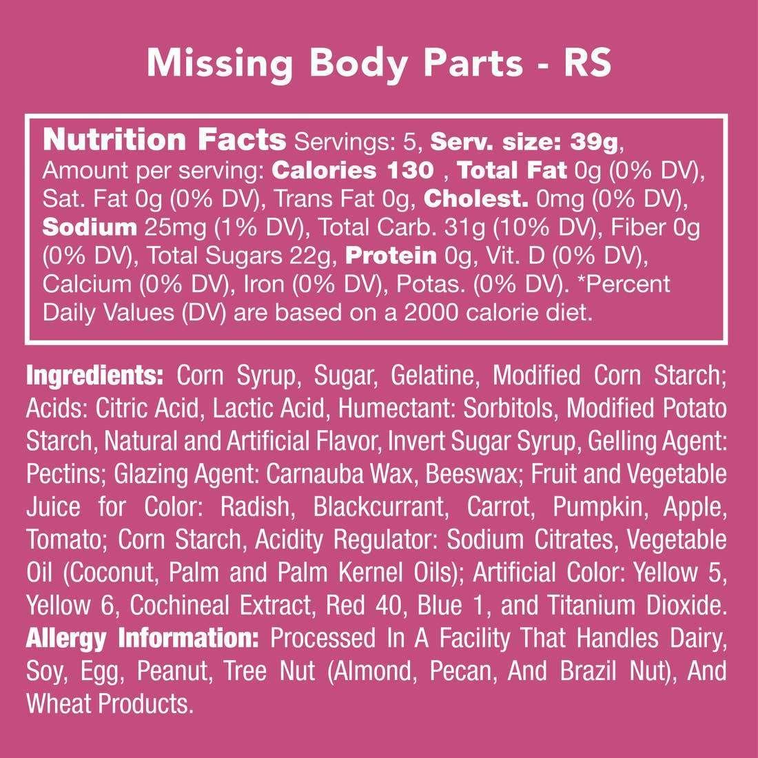 MISSING BODY PARTS GUMMIES-candy-Candy Club-Litchfield Lane Boutique