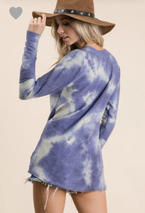 NIGHTS SKY TYE DYE TOP-Top-Ces Femme-Litchfield Lane Boutique