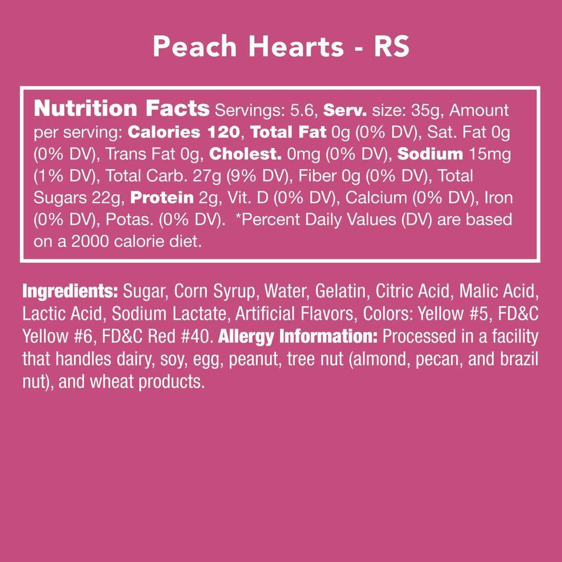 PEACH HEARTS-Candy-Candy Club-Litchfield Lane Boutique