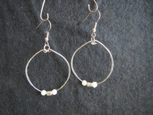 Earrings Handmade hoops silver