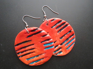 Earrings handmade polymer clay