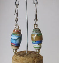 Load image into Gallery viewer, Earrings handmade paper beads