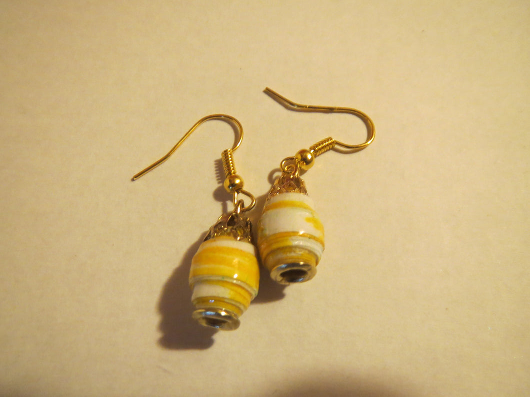 Earrings handmade rolled paper beads