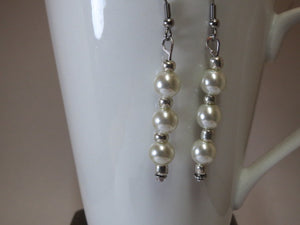 Earrings handmade drop pearl