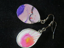 Load image into Gallery viewer, Earrings handmade pressed paper