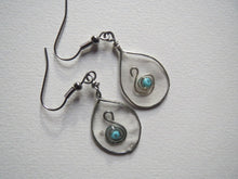 Load image into Gallery viewer, Earrings handmade resin inset