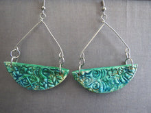Load image into Gallery viewer, Earrings Handmade Polymer clay turquois