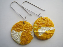Load image into Gallery viewer, Earrings Handmade Polymer clay drop in yellow