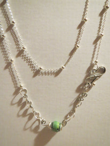 NECKLACE WITH HAND MADE PAPER BEADS
